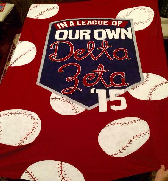 Baseball bid day banner