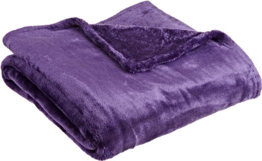 "Northpoint Cashmere Plush Velvet Throw, Purple, 50"" X 60"""