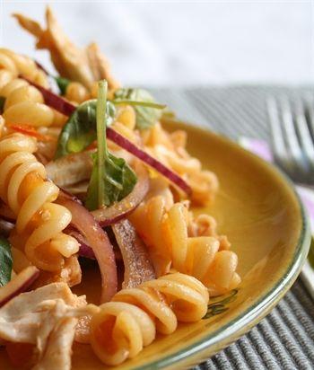 Simply & delicious pasta salad, with sweet slowly roast tomato chutney &…