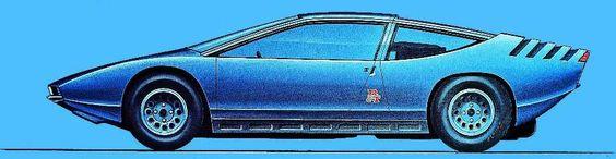 Alfa Romeo 33 Iguana (ItalDesign), 1968 - Design Sketch