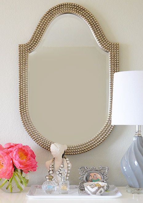 Howard Elliott Lancelot Mirror for a powder room or could this be a DIY