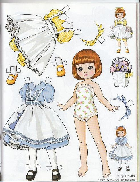 (⑅ ॣ•͈ᴗ•͈ ॣ)♡ ✄Paper Dolls Tiny Betsy McCall paper doll by Siyi Lin by atrikaa, via Flickr: