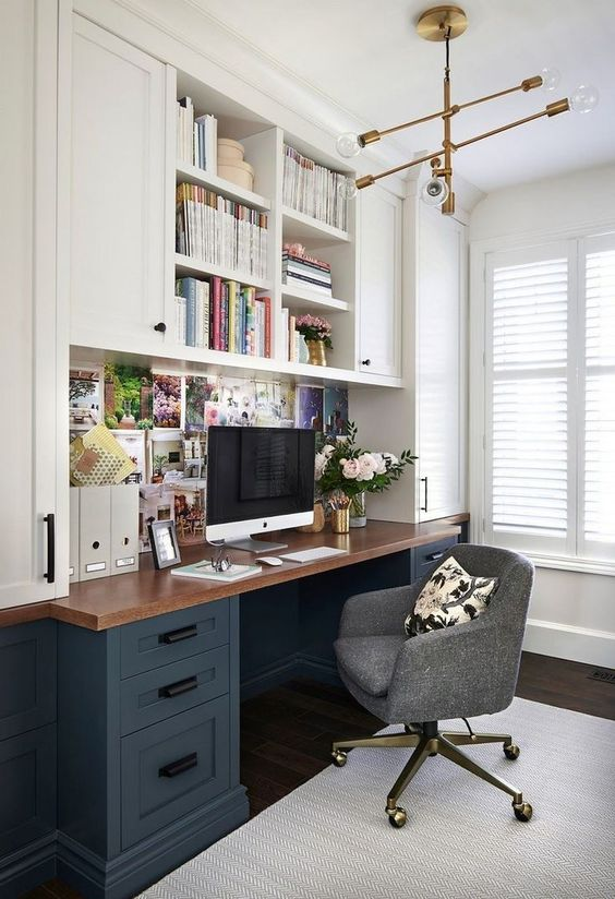 40 Modern Home Office Design Ideas For Small Apartment #homeoffice #homeofficeideas #smallapartments