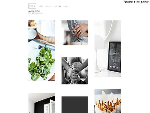The Lion theme is simple and sophisticated tumblr theme. | Tumblr ...