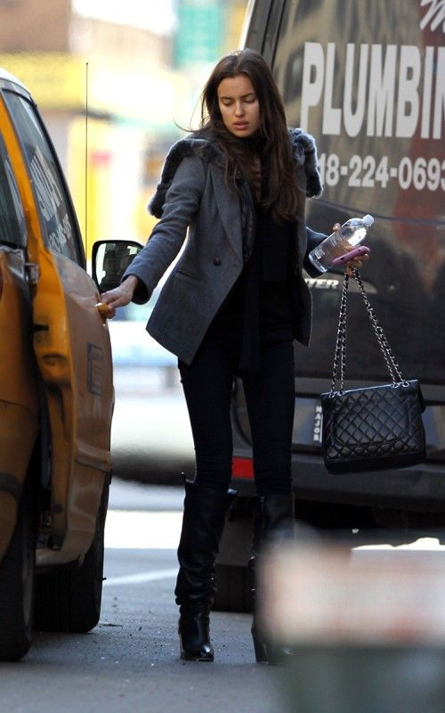 Street Style Nyc Irina Shayk My Style Pinterest Bags Style And Boots