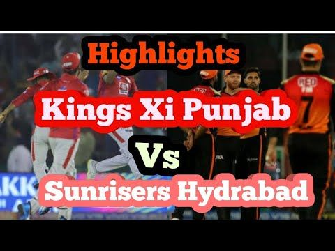 Srh Vs Kxip Highlights Ipl 2019 Kings Xi Punjab Vs Sunrisers Hydrabad Highlights Ipl Comic Book Cover