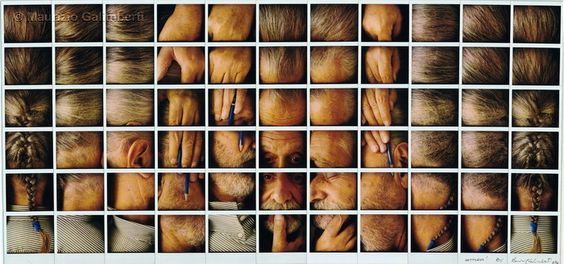 Ettore Sottsass, polaroid art by Maurizio Galimberti, 1994.
