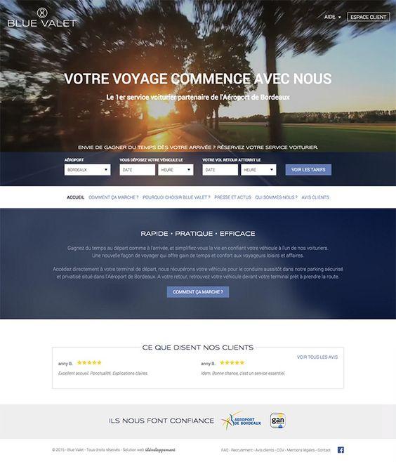 Blue Valet - idéveloppement : création de site internet bordeaux #webdesign #frontend #backend