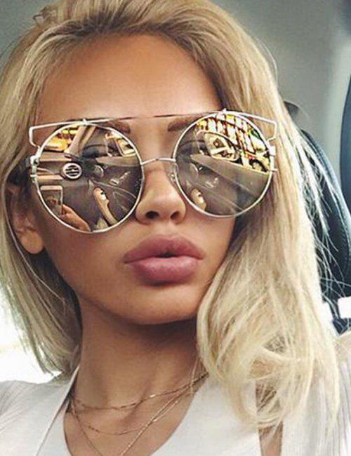 Women S Oversized Rose Gold Mirror Sunglasses Gold Mirror Sunglasses Round Sunglasses Women Big Round Sunglasses