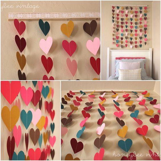 DIY cortina de coração: