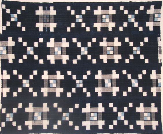 "A late 19th-century Japanese resist dyed (shibori-zome) wool felt carpet (shibori-mosen) with a red/orange field and resist roundels dyed in light green and yellow. Called ""mosen,"" these carpets were for winter use in the waiting area of a tea house. Size: Mounted: 81½ high x 51¾"" wide. From 2015 San Francisco Fall Antiques Show exhibitor, Kathleen Taylor - The Lotus Collection. @ktlotus"