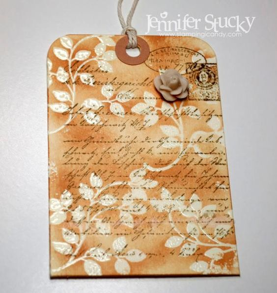 Emboss Resist Gift Tag