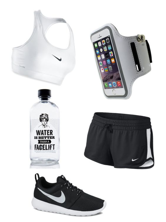 """""""NIKE"""" by sxrxxrxs ❤ liked on Polyvore featuring NIKE and Aquaovo"""