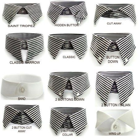 Dress shirt collars for different face shapes big tall for Types of dress shirts
