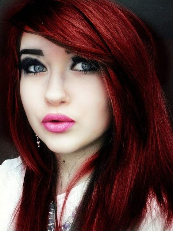 Awesome Dyed Hairstyles Red Black Hair And Black Hair Colors On Pinterest Hairstyle Inspiration Daily Dogsangcom