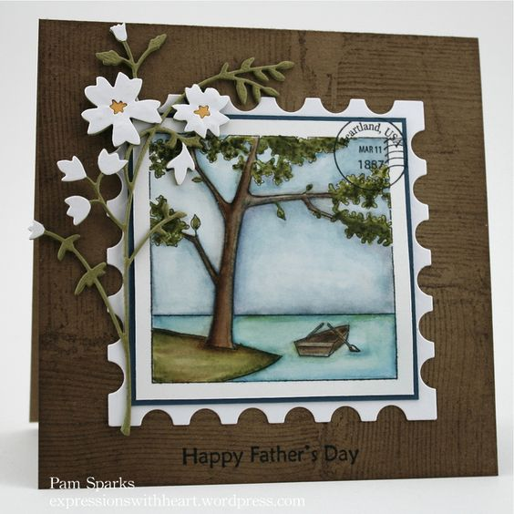 Memory Box stamp- F1770 On the Lake die-Honeyblossom Sprig 98333 from the Expressions With Heart blog: