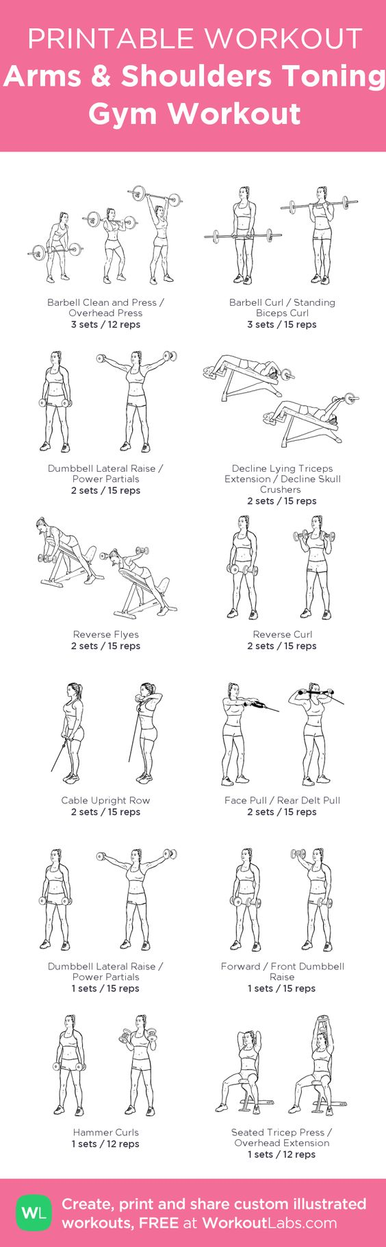 Intense Arms & Shoulders Toning Gym Workout for noticeable results in weeks. Grab the FREE PDF now: http://wlabs.me/1u2CiTq