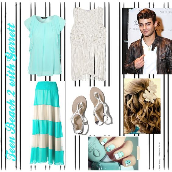 Teen Beach 2 Premier with Garrett by lukeyandnini13 on Polyvore featuring polyvore fashion style Jane Norman MANGO Le Ragazze Di St. Barth Abercrombie & Fitch Disney