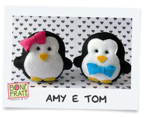 Blog BoniFrati felt penguinstuffed toy pattern sewing handmade