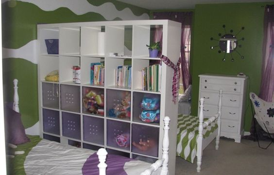 Ikea expedit bookcase and bookshelves on pinterest - Ikea small spaces bedroom plan ...