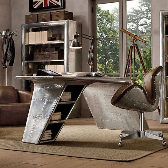 17 Best Ideas About Men S Home Offices On Pinterest: Aviation Themed Home Office Design