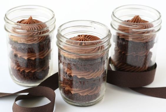 Chocolate Cupcakes in a Jar