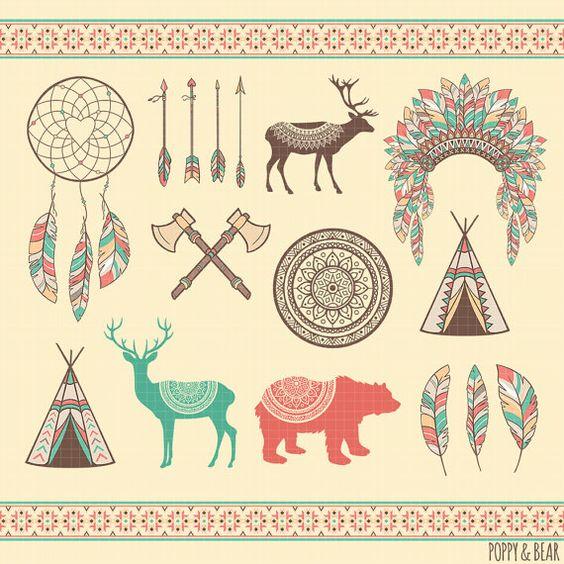 Tribal Clipart Ethnic Clipart / / Wedding Clipart / by poppynbear ...