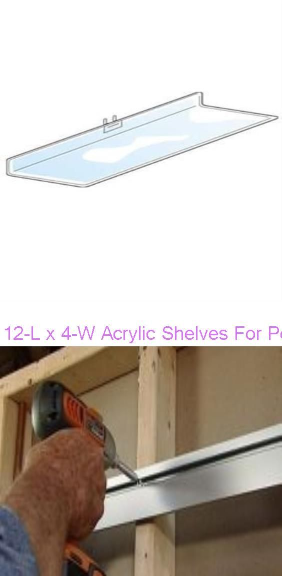 12 L X 4 W Acrylic Shelves For Pegboard Fit 1 4 Holes How To Install The Hangman Products Slatwall Shelving System In 2020 Acrylic Shelf Slat Wall Peg Board