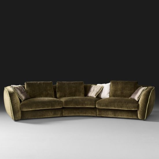 Curved Designer Velvet Modular Sofa Modular Sofa Luxury Sofa