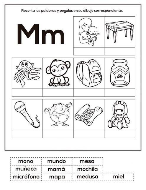 Tareitas Objetos Con M En 2020 Actividades De Lectura Preescolar Actividades Para Lectoescritura Ensenanza De Las Letras