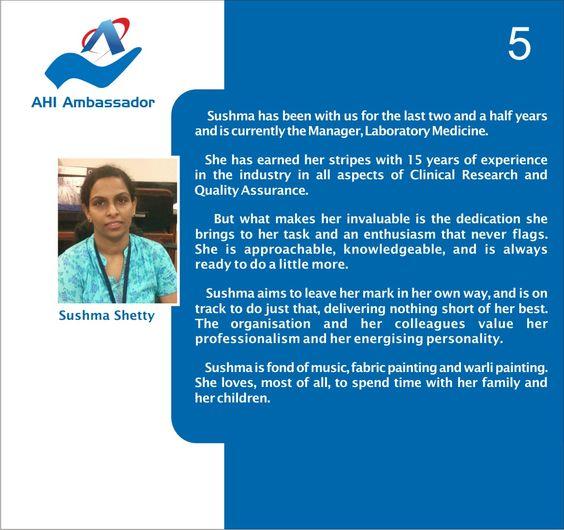 Sushma Shetty, Manager - Laboratory Medicine