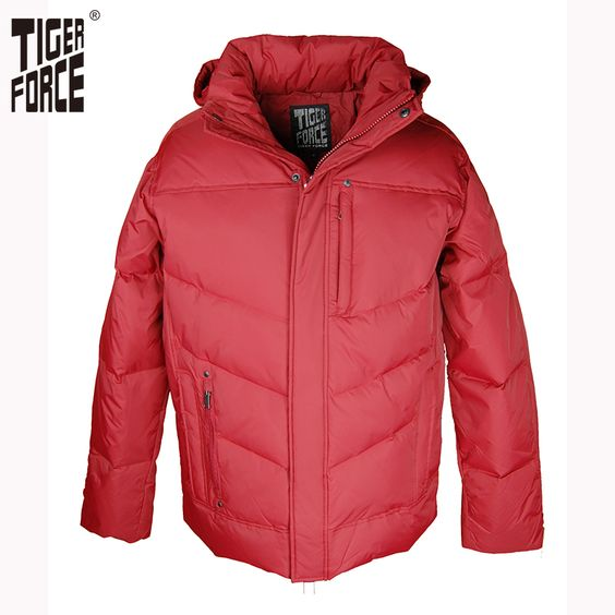 Find More Down Jackets Information about TIGER FORCE Hot Sale Men ...