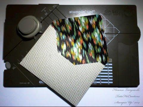 cr er une enveloppe avec l 39 insta 39 boites de stampin 39 up id es insta 39 boite gift box punch. Black Bedroom Furniture Sets. Home Design Ideas