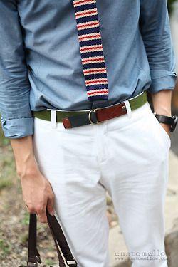 mensinterests:    Knit Tie.