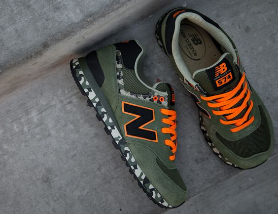 classic new balance 574 orange