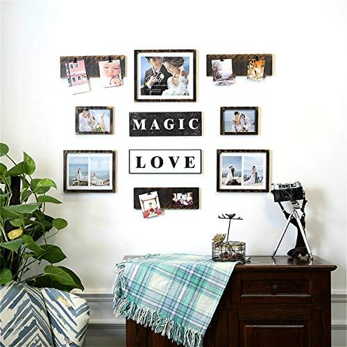 Living Room Wall Frames Picture Frame Set On Wall Art Decoration Sticker In Family Living Room And Bedroo Picture Frame Sets Frame Set Collage Picture Frames