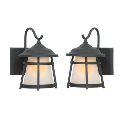 Hampton Bay Exterior Wall Lantern 2 Pack 15604 Home Depot