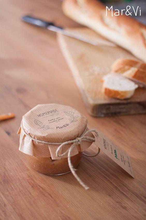mermeladas para regalar: packaging imprimible gratis