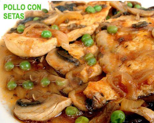 Pollo En Salsa Con Champiñones Bacon Nata Y Vino Blanco Comidas Con Pollo Comida Y Recetas De Cocina