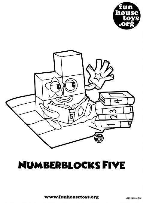 Numberblocks Five Printable Coloring Pag Coloring For Kids Learning Numbers Coloring Pages