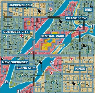 GTA Liberty City Map