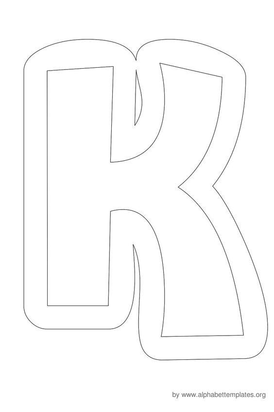 Writing Bubble Letters K