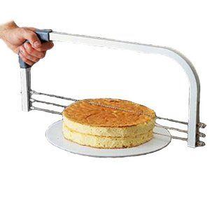 Freelogix Large Professional 3 Wire Cake Craft Interlayer Slicer Cutter: Amazon.co.uk: Kitchen & Home