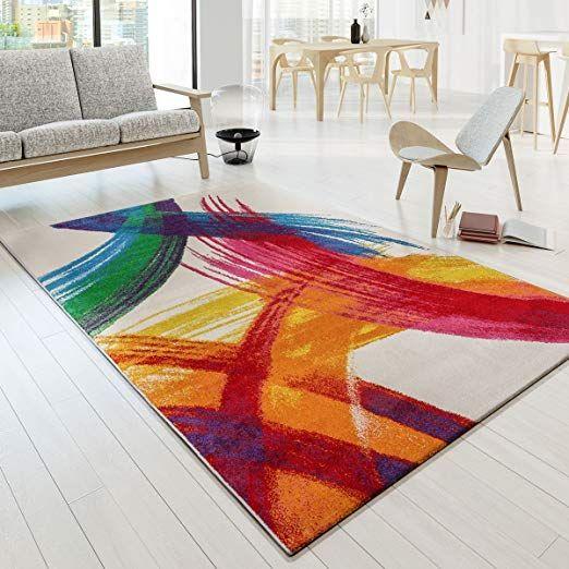 tapis salon moderne multicolore style