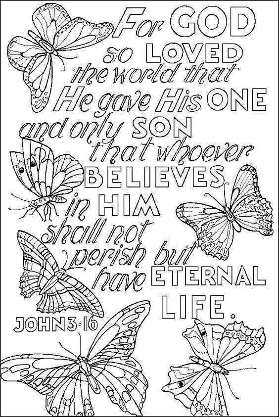 Top 10 Free Printable Bible Verse Coloring Pages Online | Kids ...