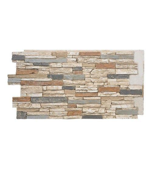 139 Sahara Deep Stacked Stone Design Wall Panel 48 W X 24 H X 1 D Stone Wall Panels Stacked Stone Walls Stacked Stone
