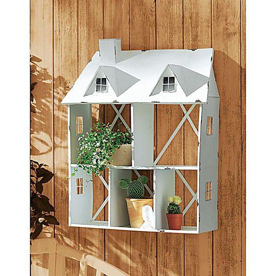 Blumenregal Haus Weiß