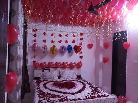 Surprise Romantic Room Decorating Ideas For Anniversary Valentine Youtube Romantic Room Decoration Romantic Room Romantic Room Surprise