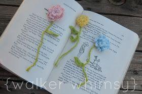 {walker whimsy}: Dainty Flower Bookmarks {Crochet Pattern}