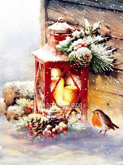 2020 Christmas Winter Diamond Painting Kit 5D DIY Diamond Painting Winter Birds Embroidery Art Kits Home